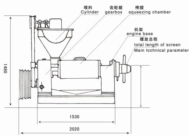 6yl-160型榨油机图解